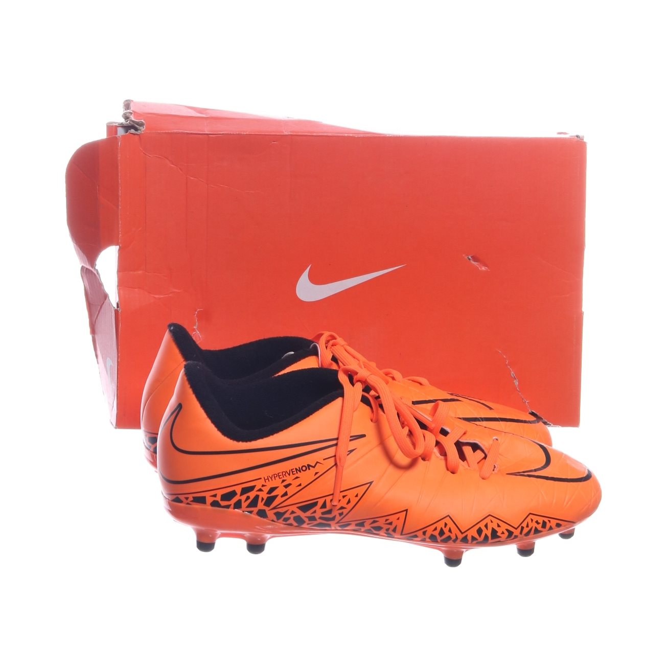low priced 65fe0 05ff5 Nike, Fotbollsskor, Strl  37.5, JR Hypervenom Phelon II FG , Orange