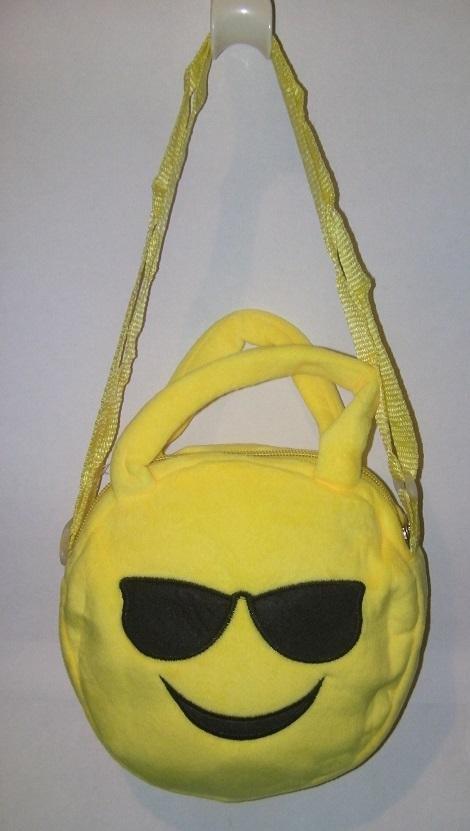 rosa emoji väska