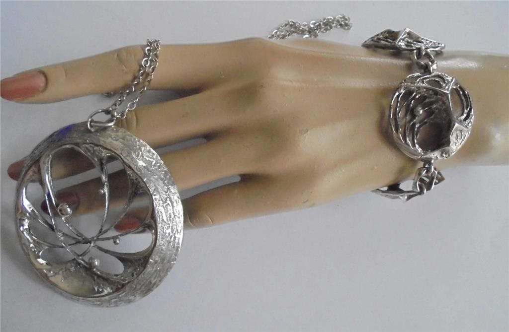 5bb9df07108d halsband+armband Karl Laine, silver, vintage 7.. (280267477) ᐈ Köp ...