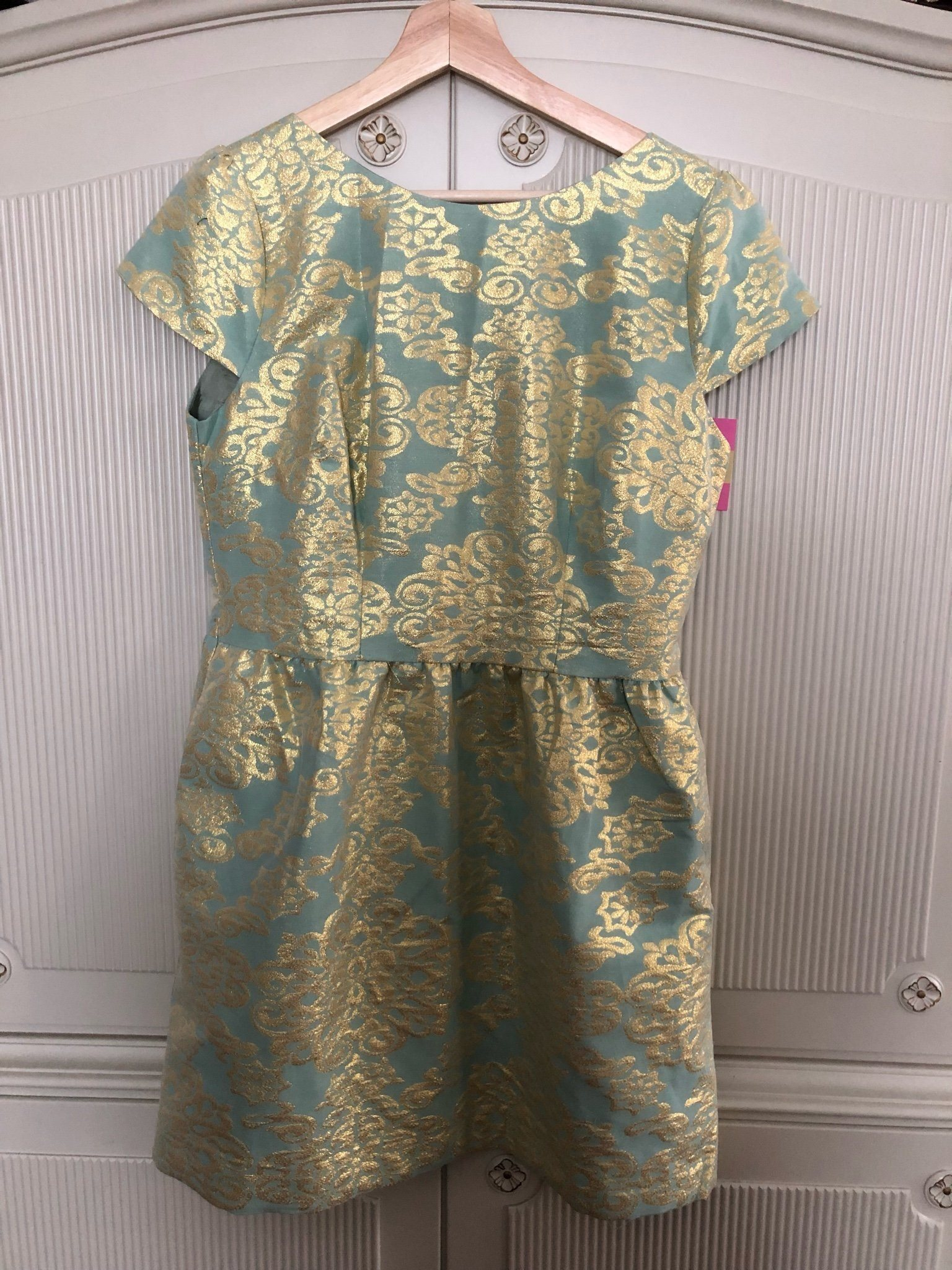 2fdc03a1c930 Turkos-metallic Stl L- Cute Metallic Dress - Pernilla Wahlgren Collection  ...