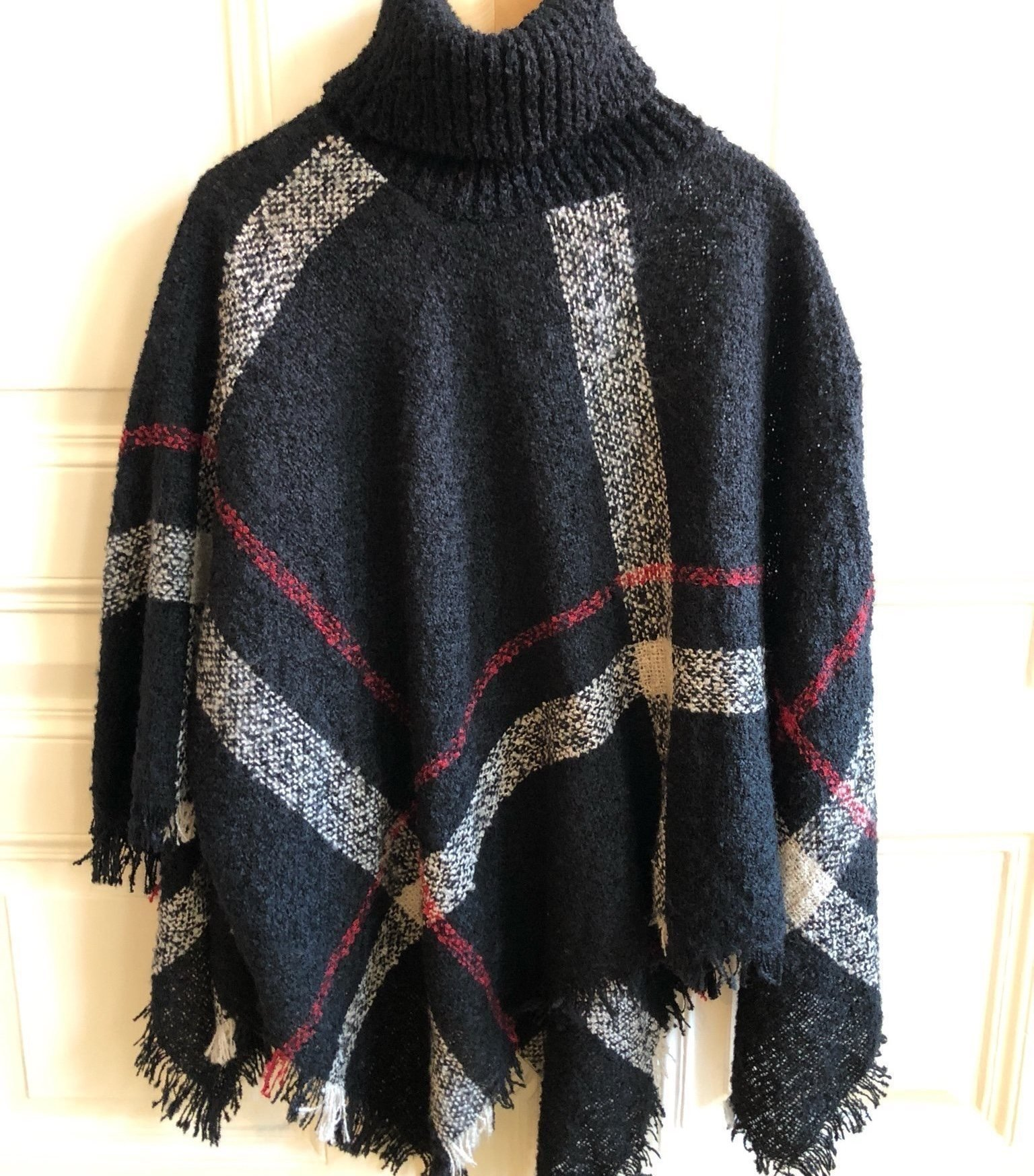 Otroligt prisvärd snygg tröja poncho jacka dam