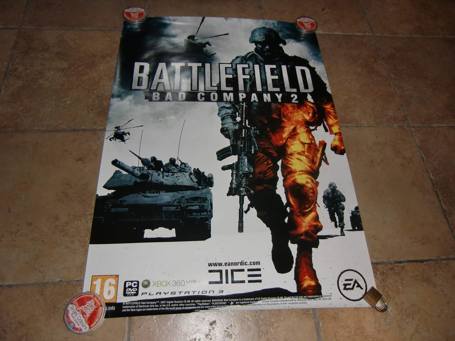 Retro Videogame Poster Original Battlefield bad company 2  VERY RARE !