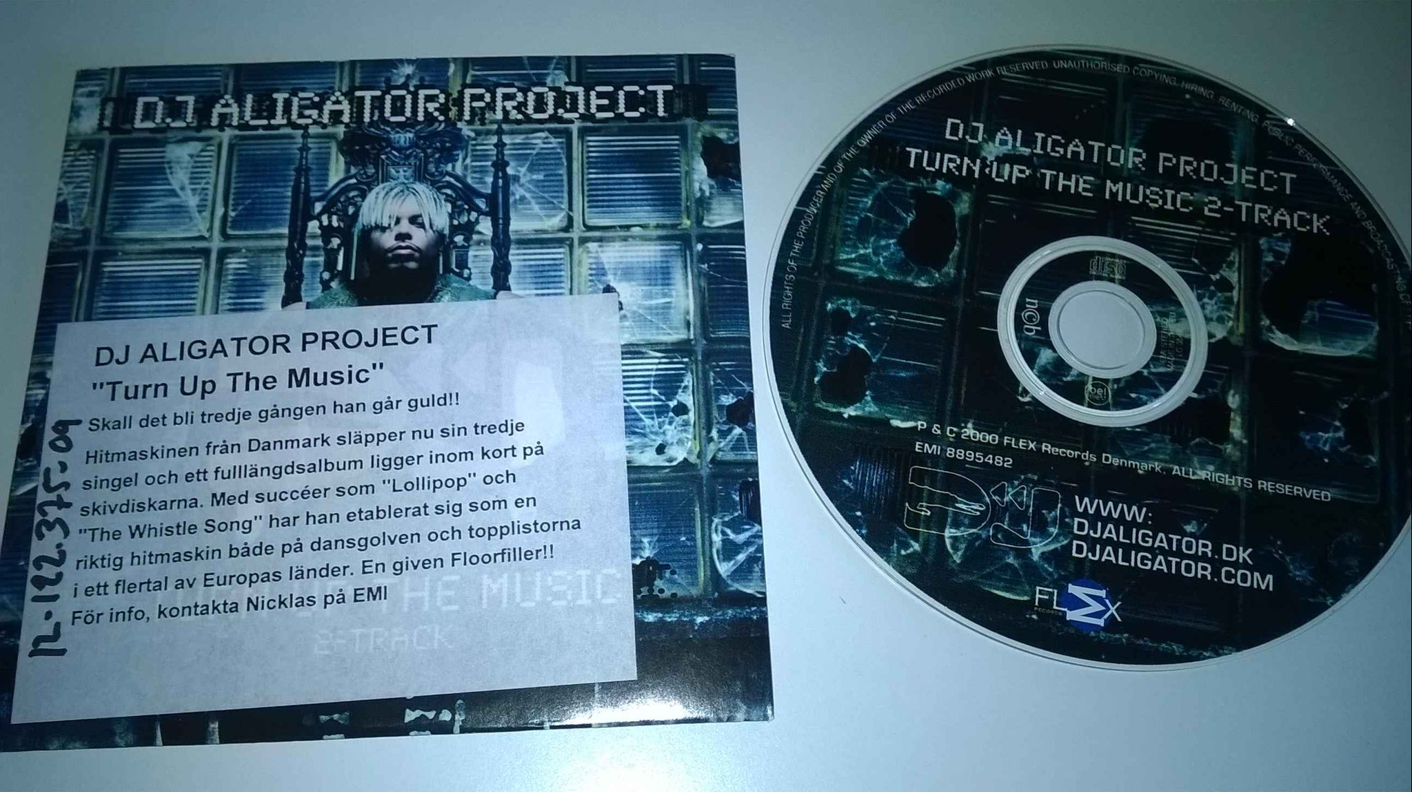 Dj Aligator Project - Turn up the music, single CD