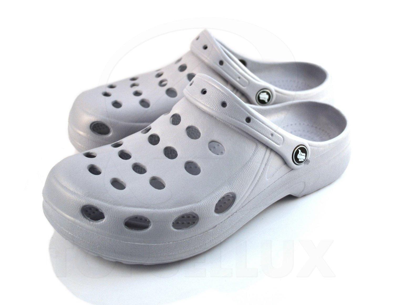 a63c2d9028a Nya foppatofflor sandaler grå tofflor toffel kilklack herr dam skor sko stl  39 ...