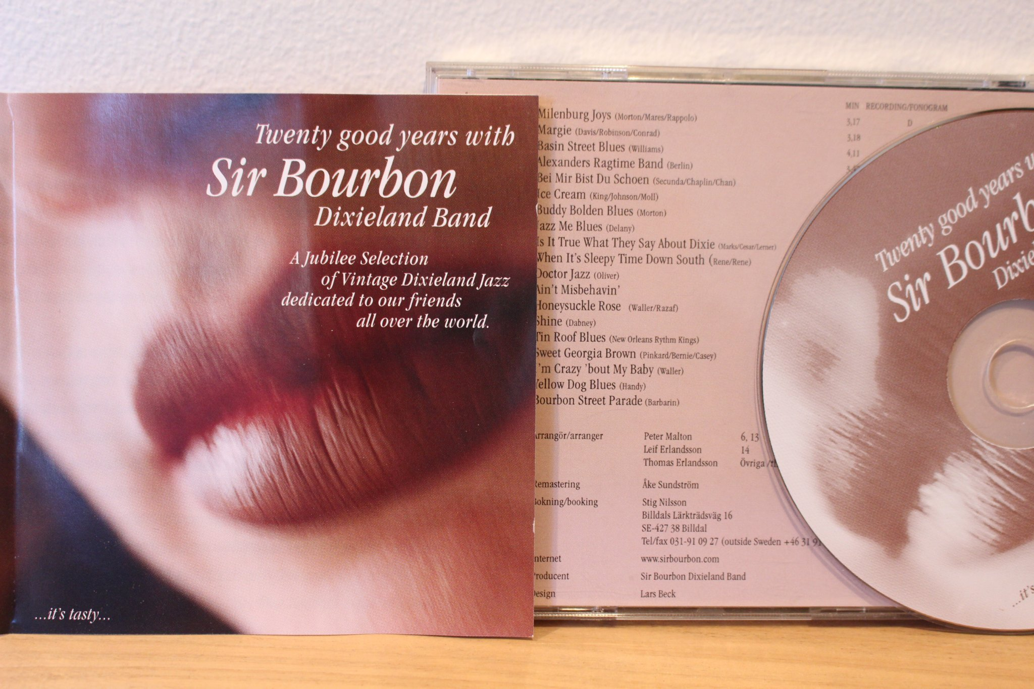 CD, Sir Bourbon, jazz, storband