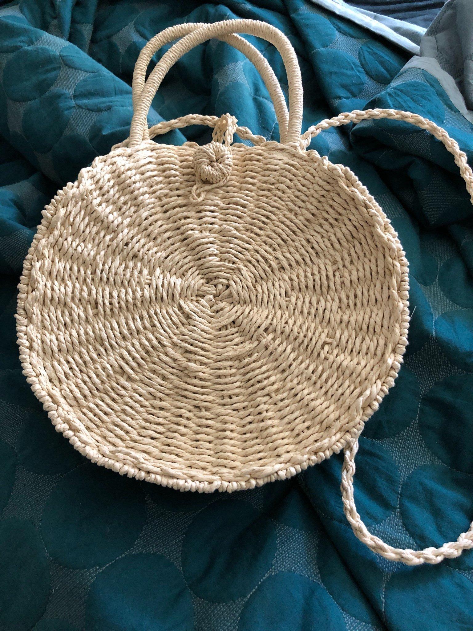 Ny, rund stråväska (358700142) ᐈ Köp på Tradera