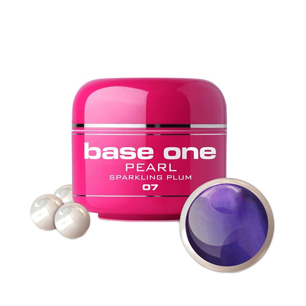 Base one - Pearl - Sparkling plum 5g UV-gel