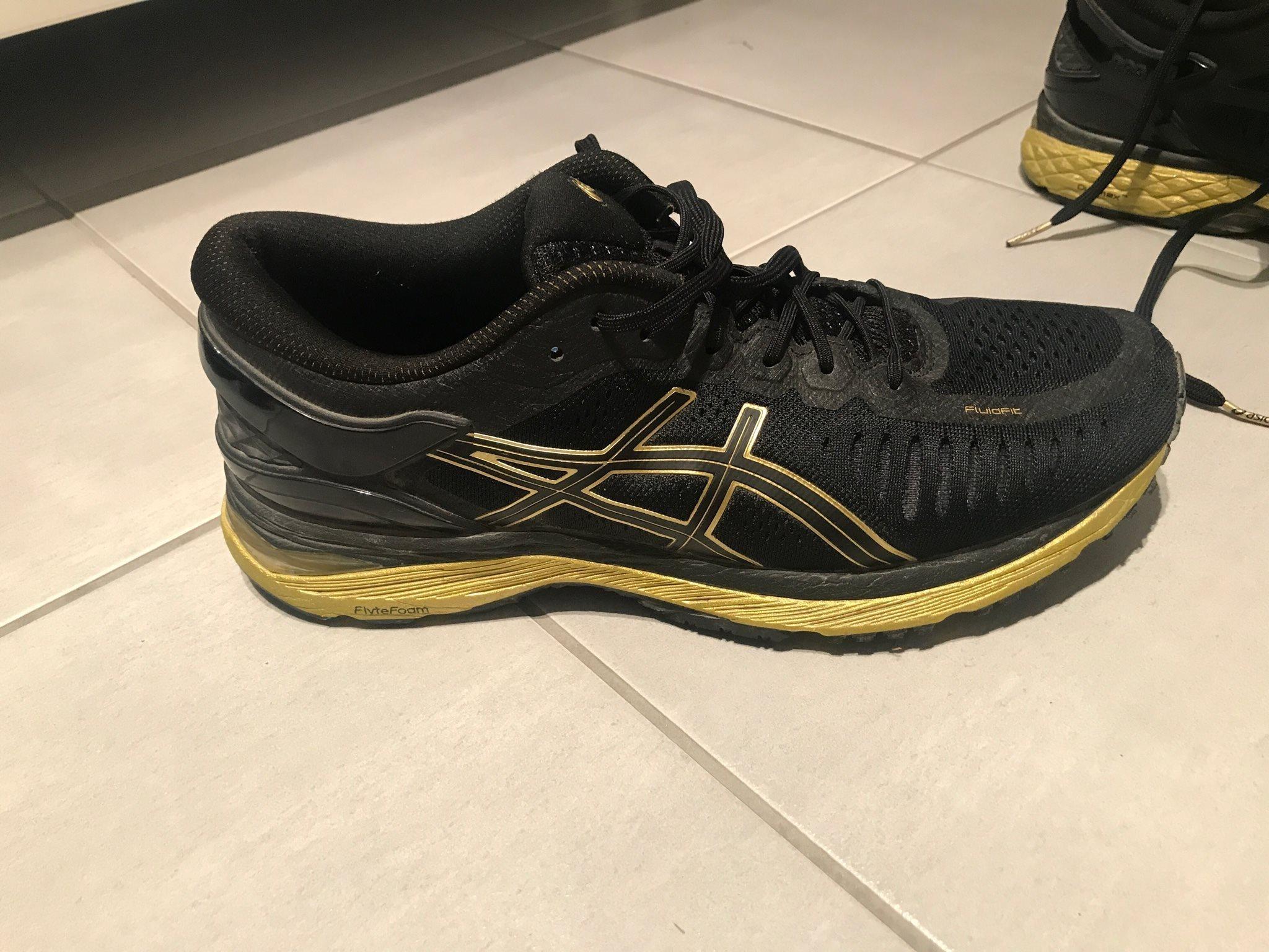 pronerande löpsteg skor