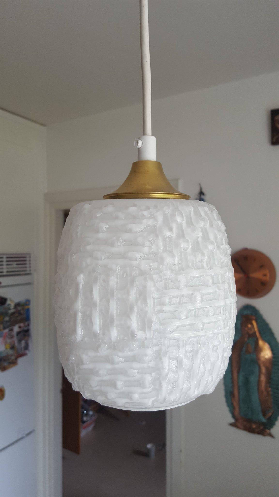 taklampa glass och mässing (354468083) ᐈ Köp på Tradera