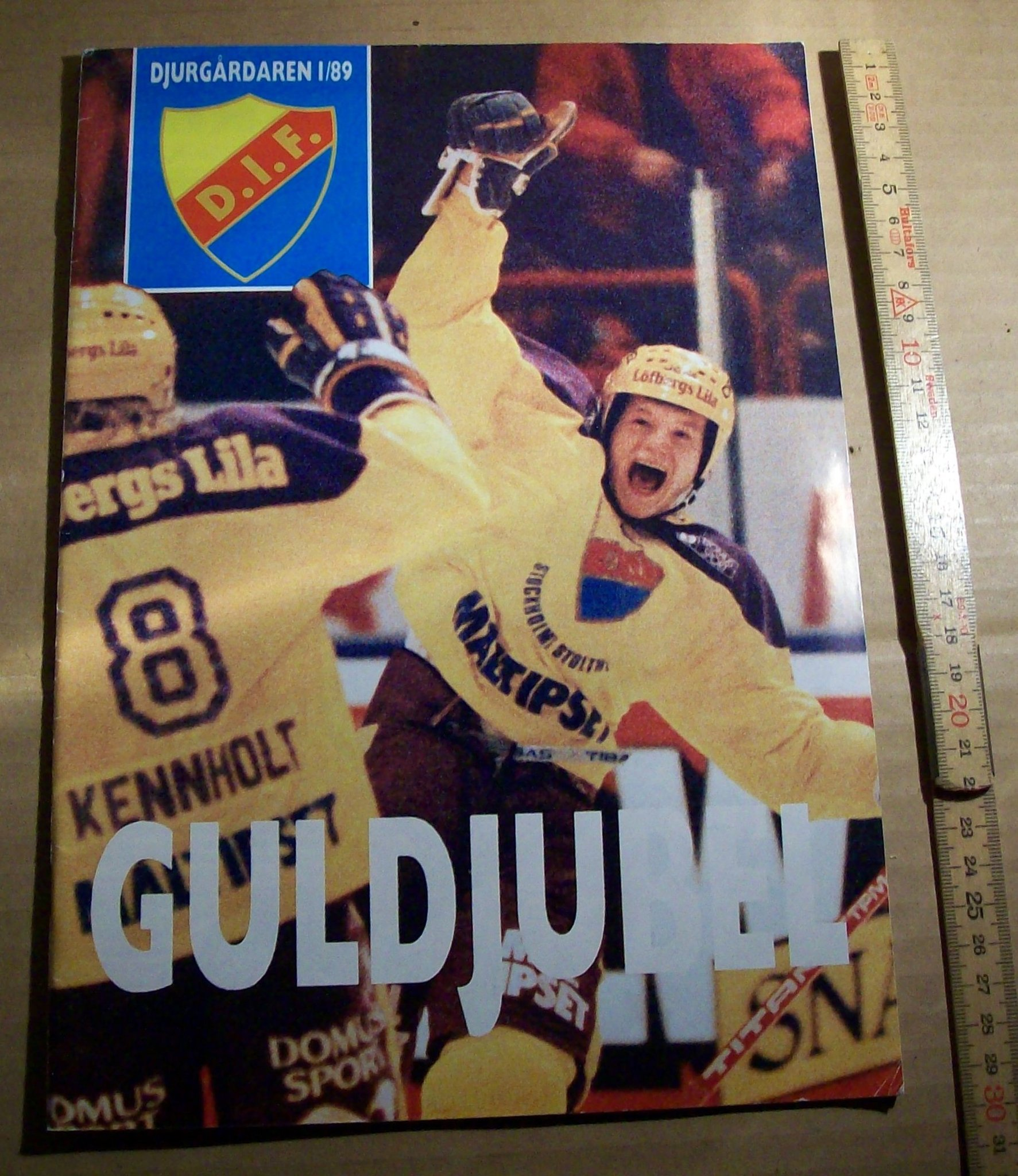 DJURGÅRDAREN. 189 GULDJUBEL, SVENSKA MÄSTARE I ISHOCKEY 1989