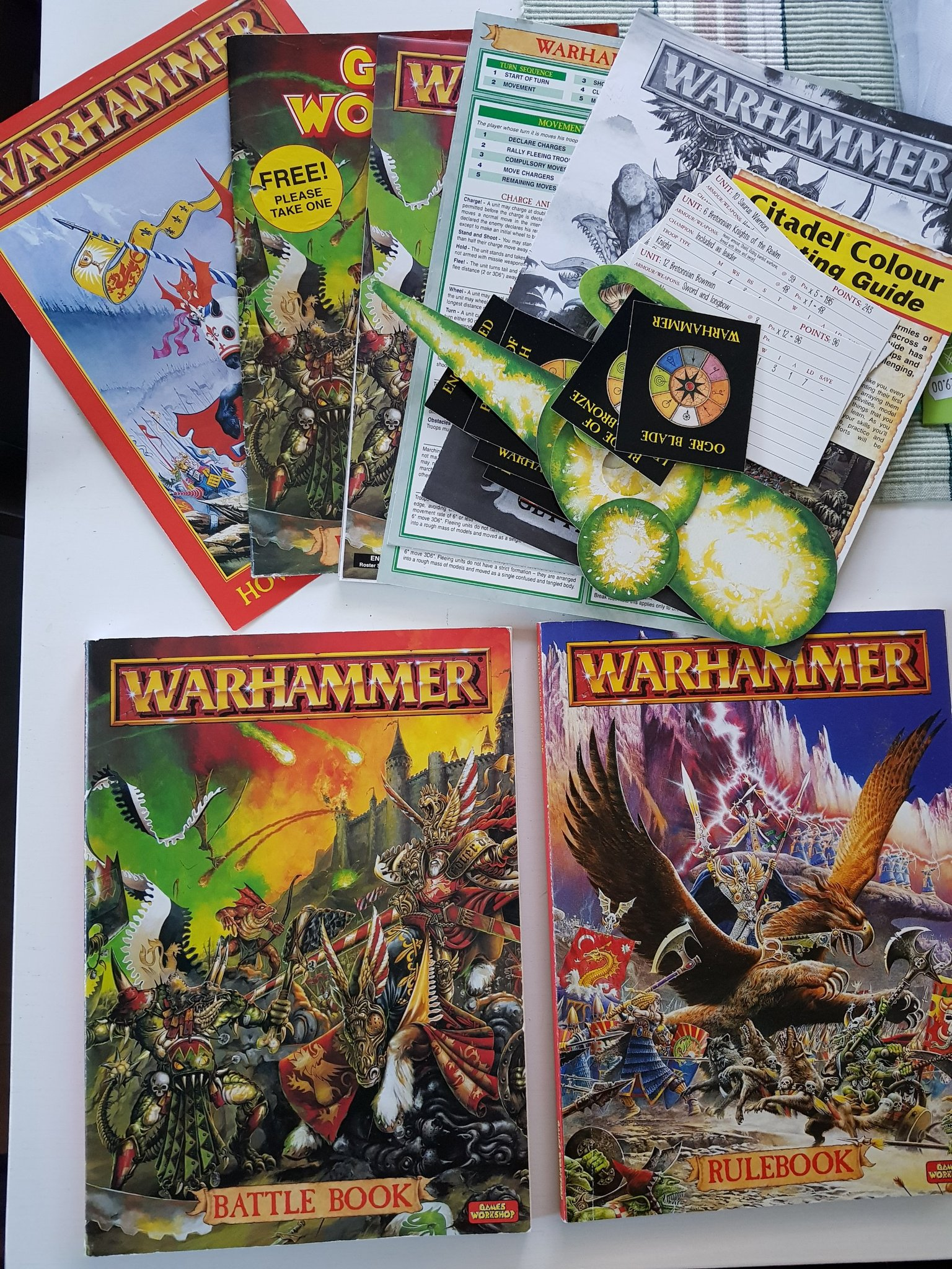 Warhammer fantasy Rulebook / Battle book codex    (350636635) ᐈ Köp