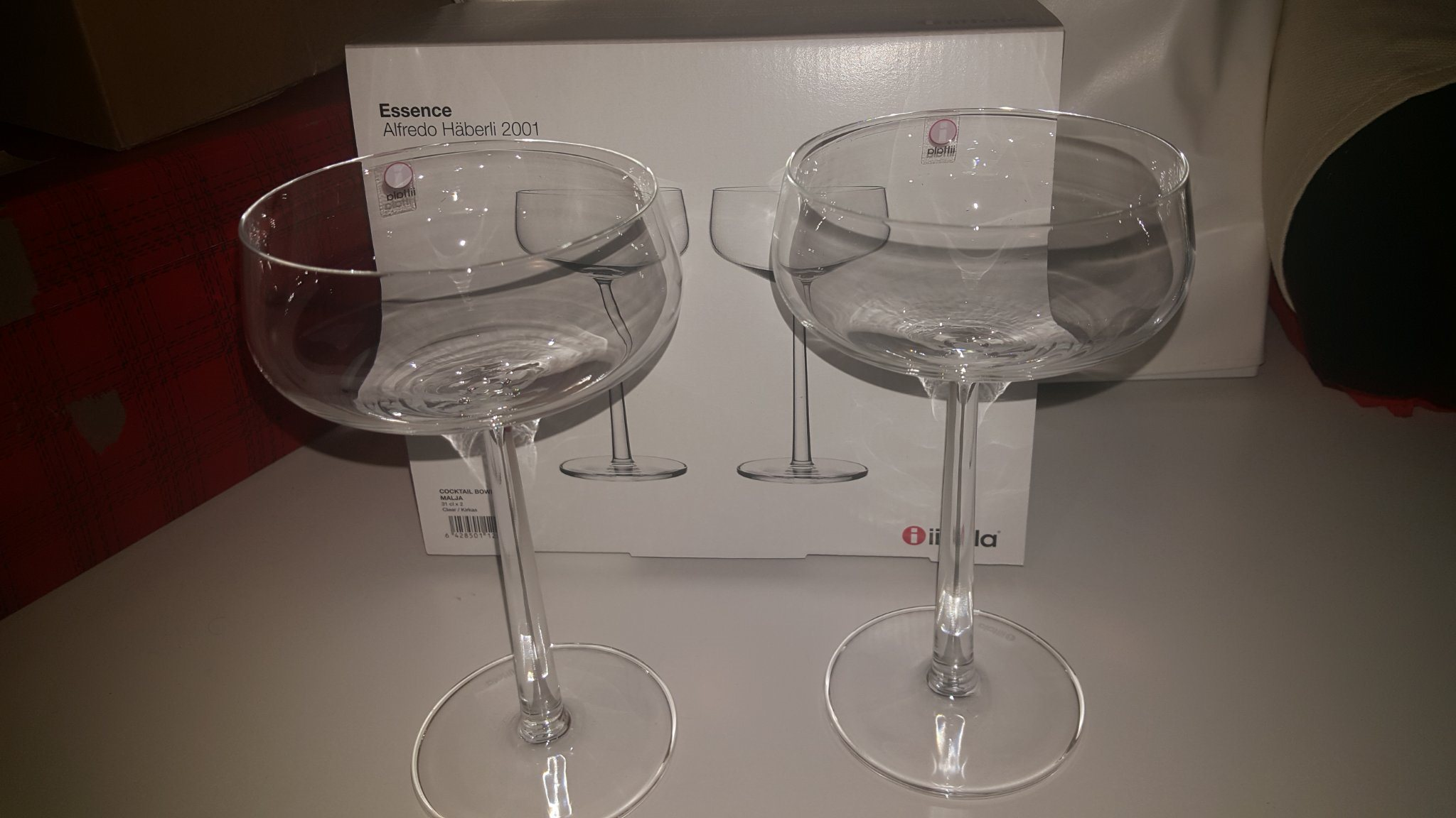2 st COCKTAIL/DESSERTGLAS -Iittala - Essence - NYA