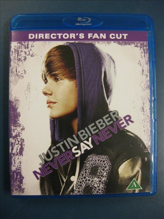 JUSTIN BIEBER - NEVER SAY NEVER - DIRECTOR´S FAN CUT - BLU-RAY I BRA SKICK