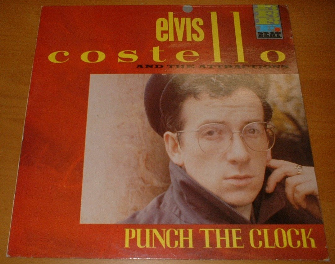 ELVIS COSTELLO & THE ATTRACTIONS LP Punch the clock 1983 SCAND