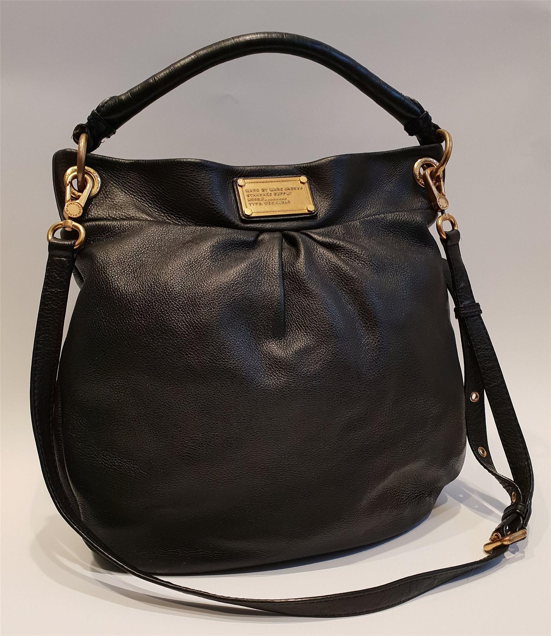 väska svart läder