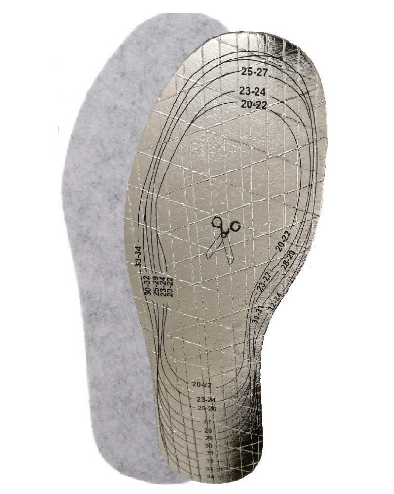 68ad2767 Barnstorlek 20-35 Thermo / Filt sulor klippbar till rätt storlek - sula