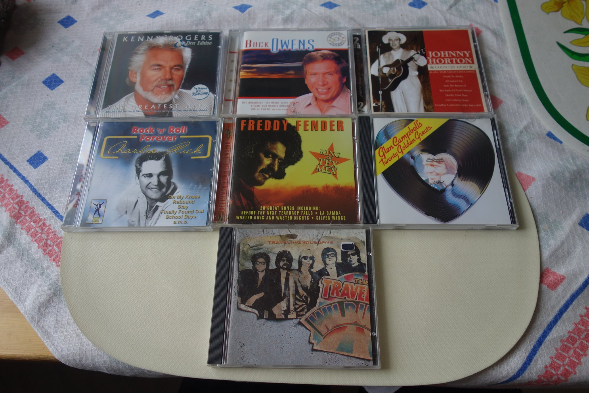 7 st Kenny Rogers Johnny Horton  Buck Owens Glen Campbell Traveling Wilburys mm