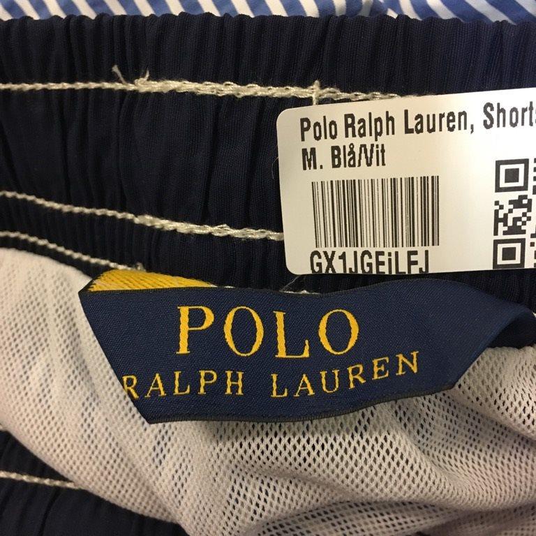 Polo Ralph Ralph Ralph Lauren, Shorts, Strl: M, Blå/Vit de2c8f