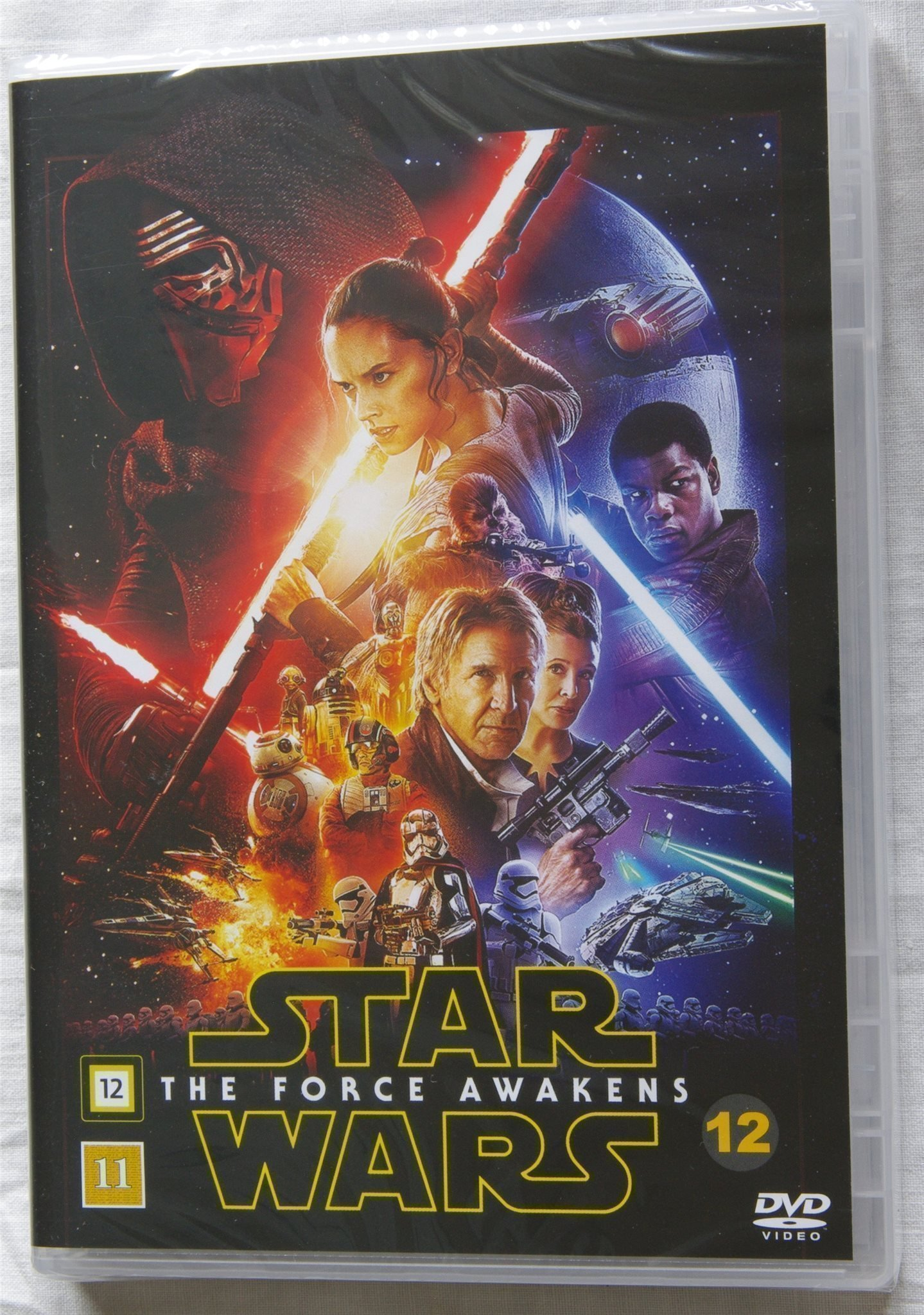 Star Wars - The force awakens, DVD, Svensk text, Oanvänd, Inplastad