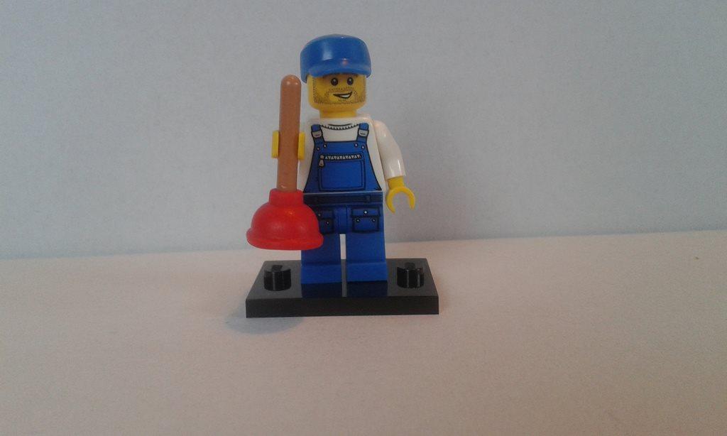 Lego minifigur CMF serie 9 Rörmokare