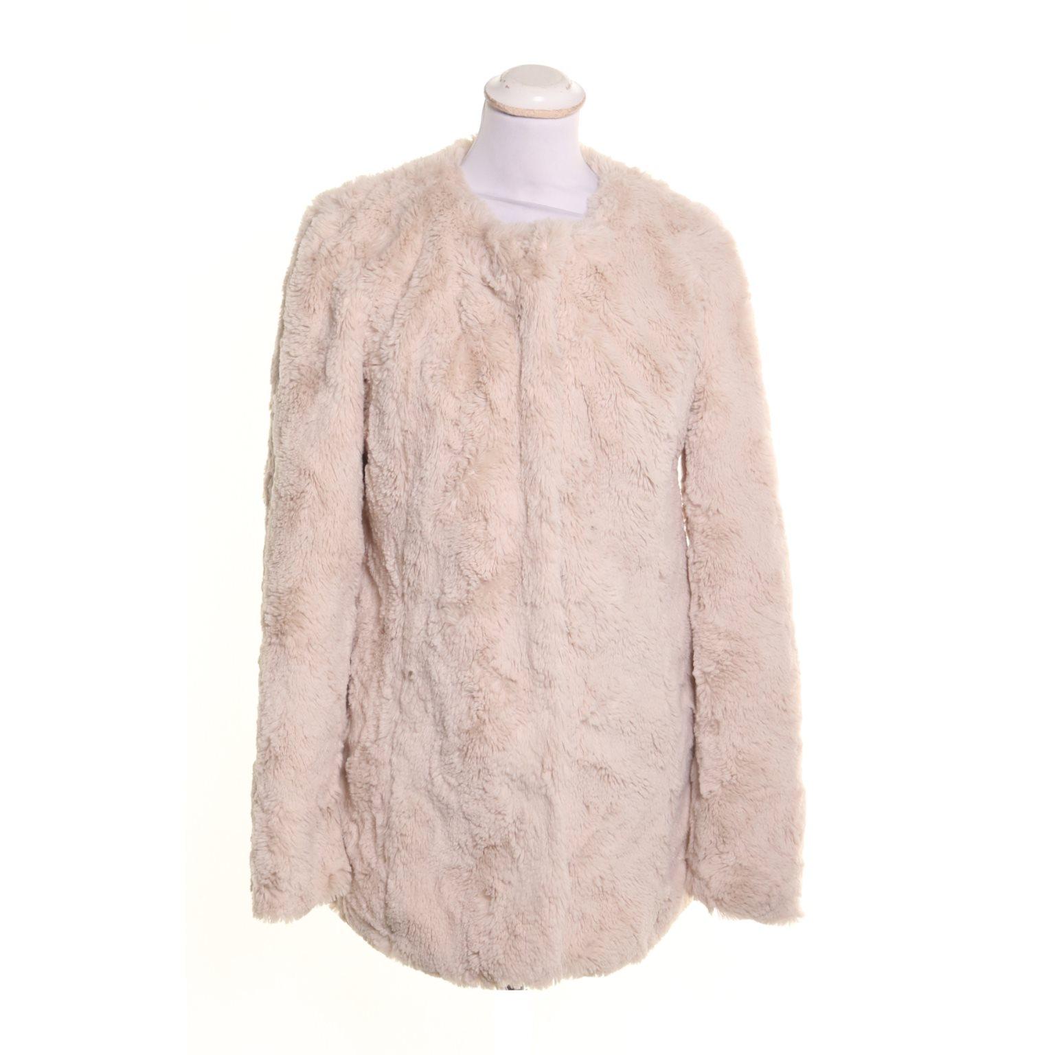 rosa pälsjacka vero moda