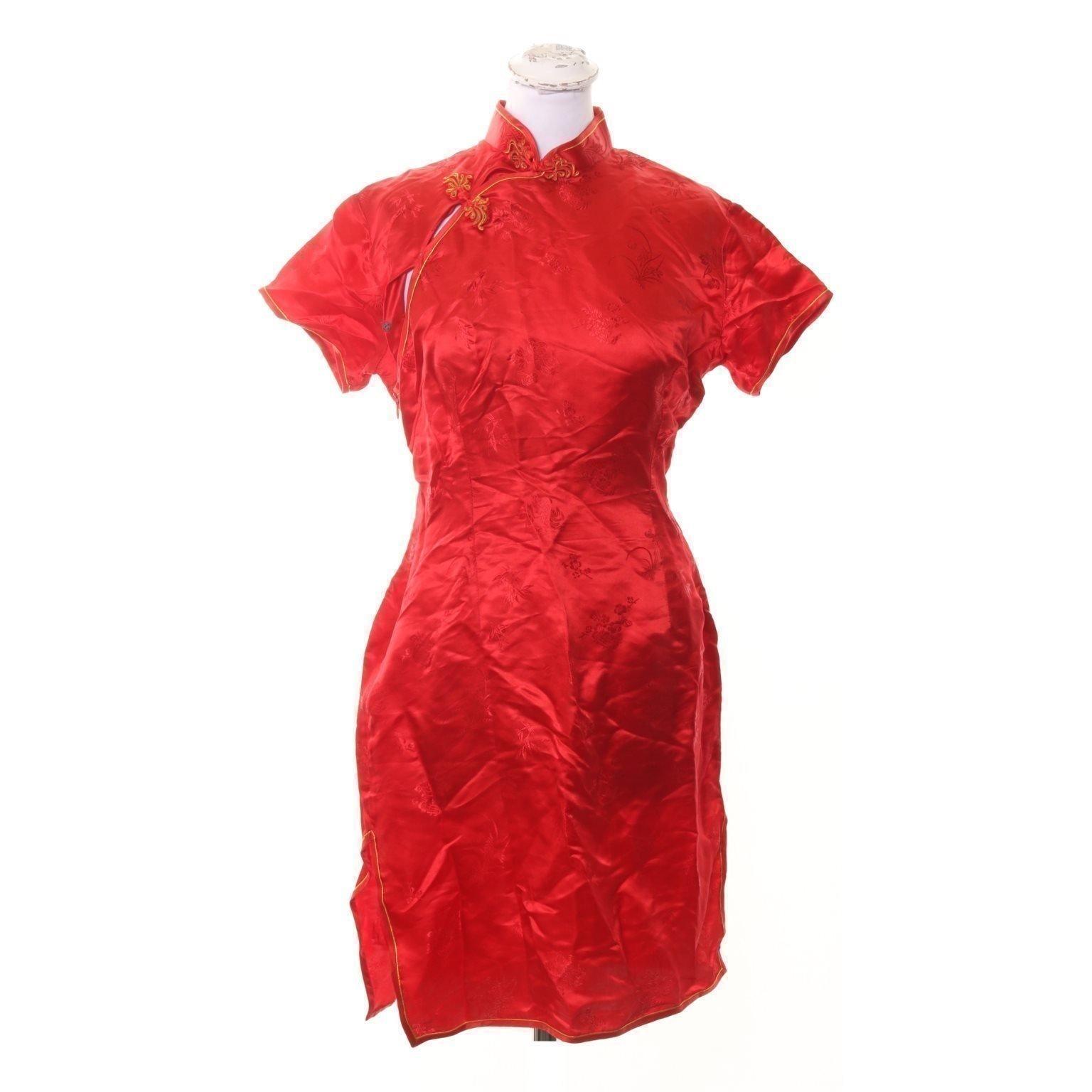 84a48245b121 Kina klänning i 100% Siden / Silke/stl small/rö.. (353037773) ᐈ Köp ...