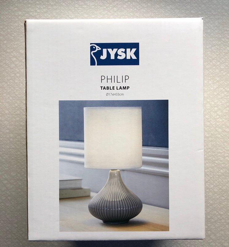 JYSK PHILIP bordslampa table lamp, oanvänd