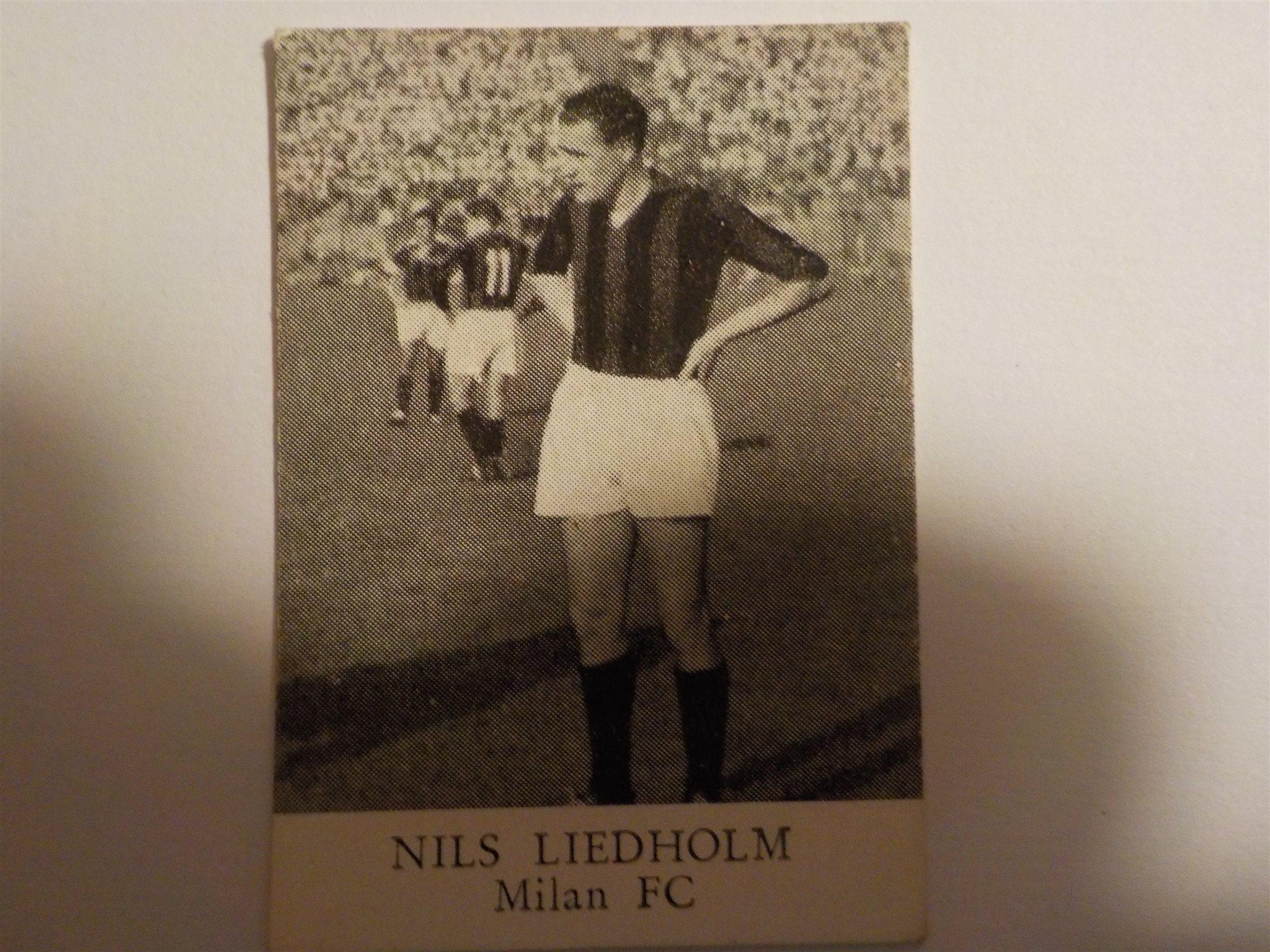 Samlarbild Turion Nils Liedholm Milan on Tradera Fotboll