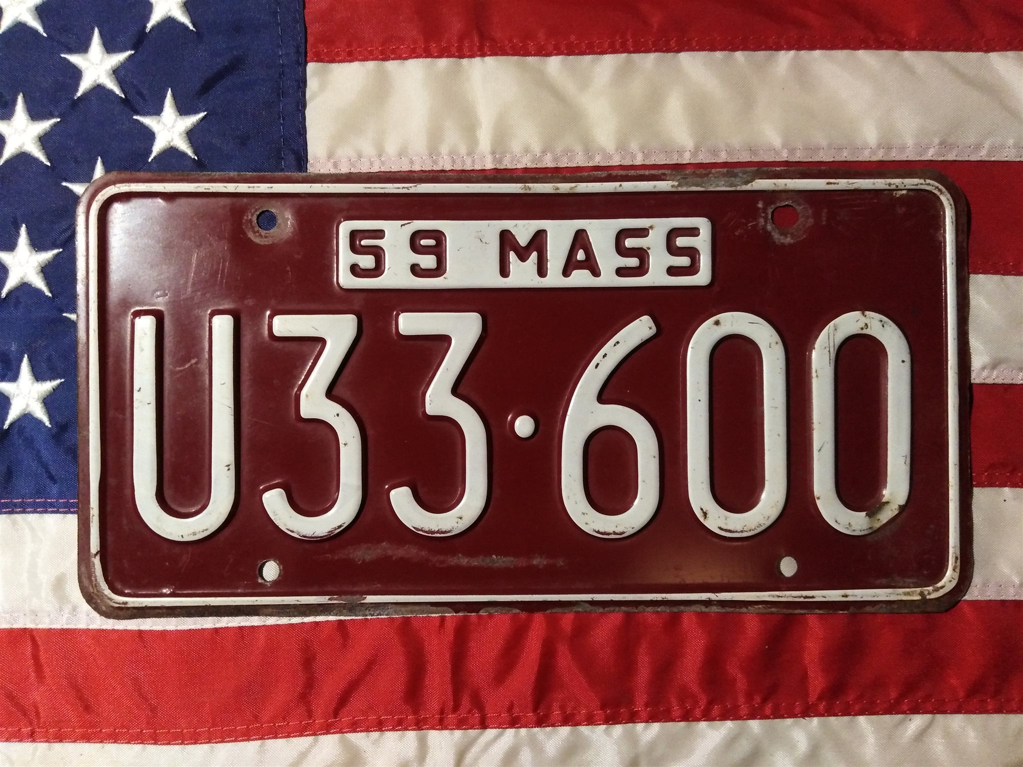 U.S. License plate - Massachusetts - 1959