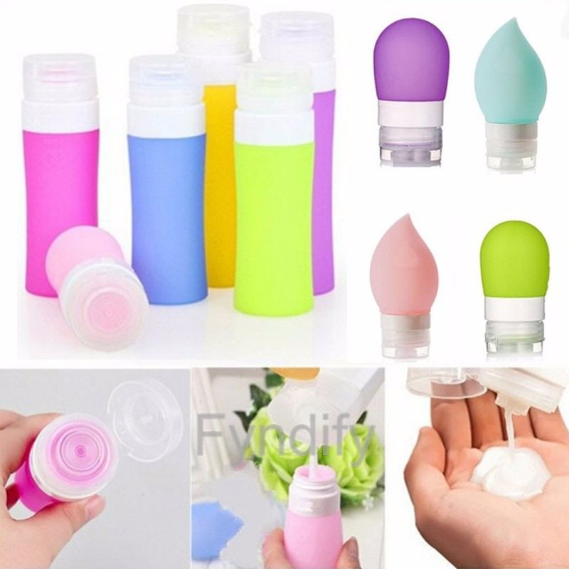Empty Silicone Travel Packing Bottle Blå 38ML