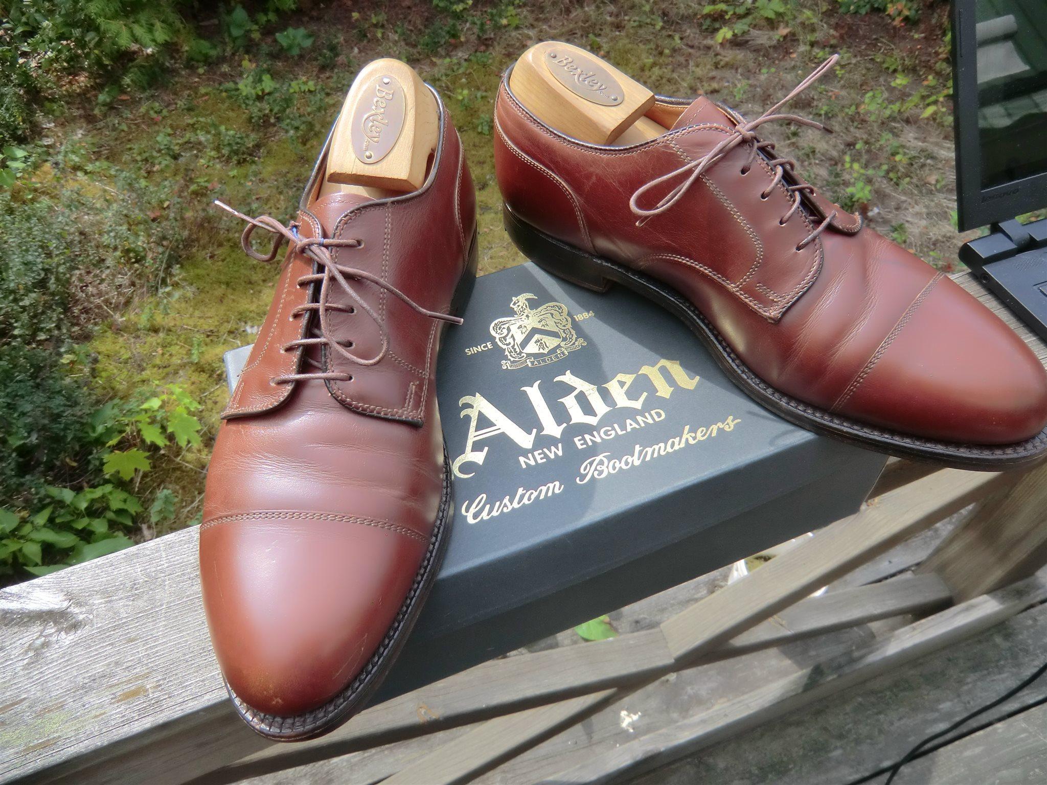 Alden cap toe blucher US 9 D (338517196) ᐈ Köp på Tradera 5fa08d6ad5cb3
