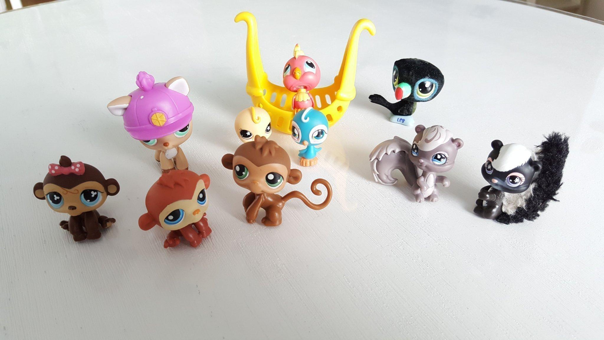 Moderne 10 st Littlest pet shop figurer, Hasbro Lps (353848395) ᐈ Köp på XV-12