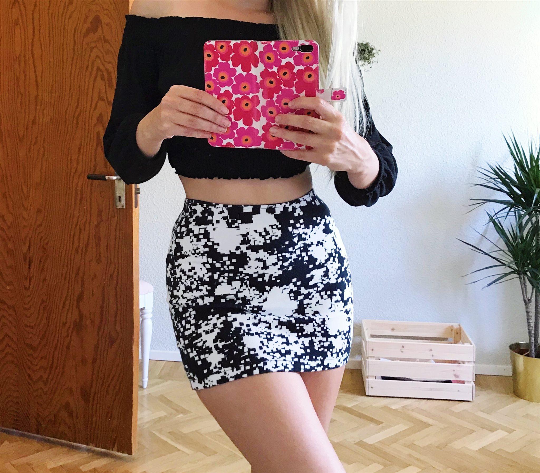 vit kort tight kjol
