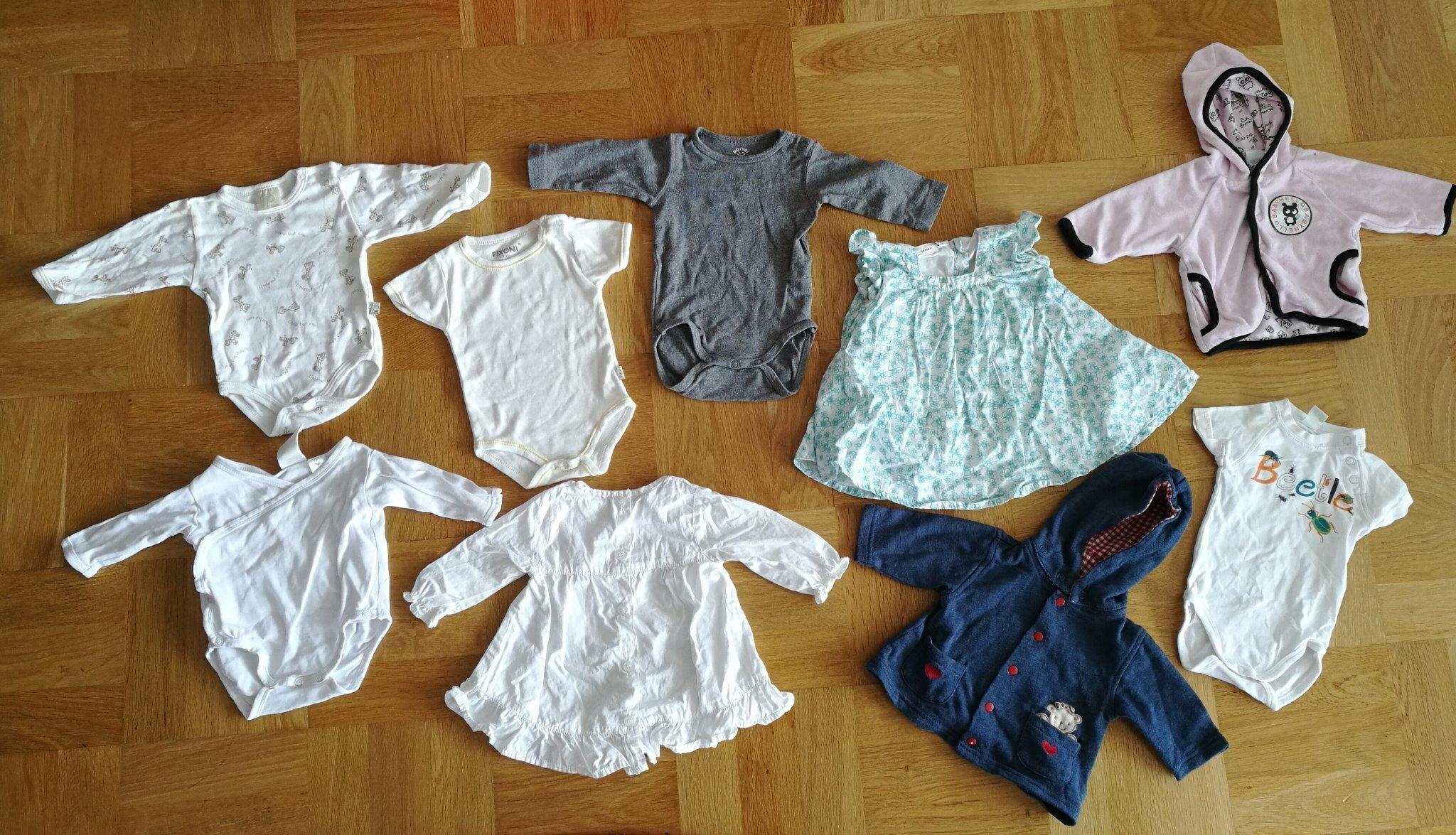 1712c6fdc9b8 KLÄDPAKET NR 10 (9 x kläder i storlek 50/56) (349749868) ᐈ Köp på ...