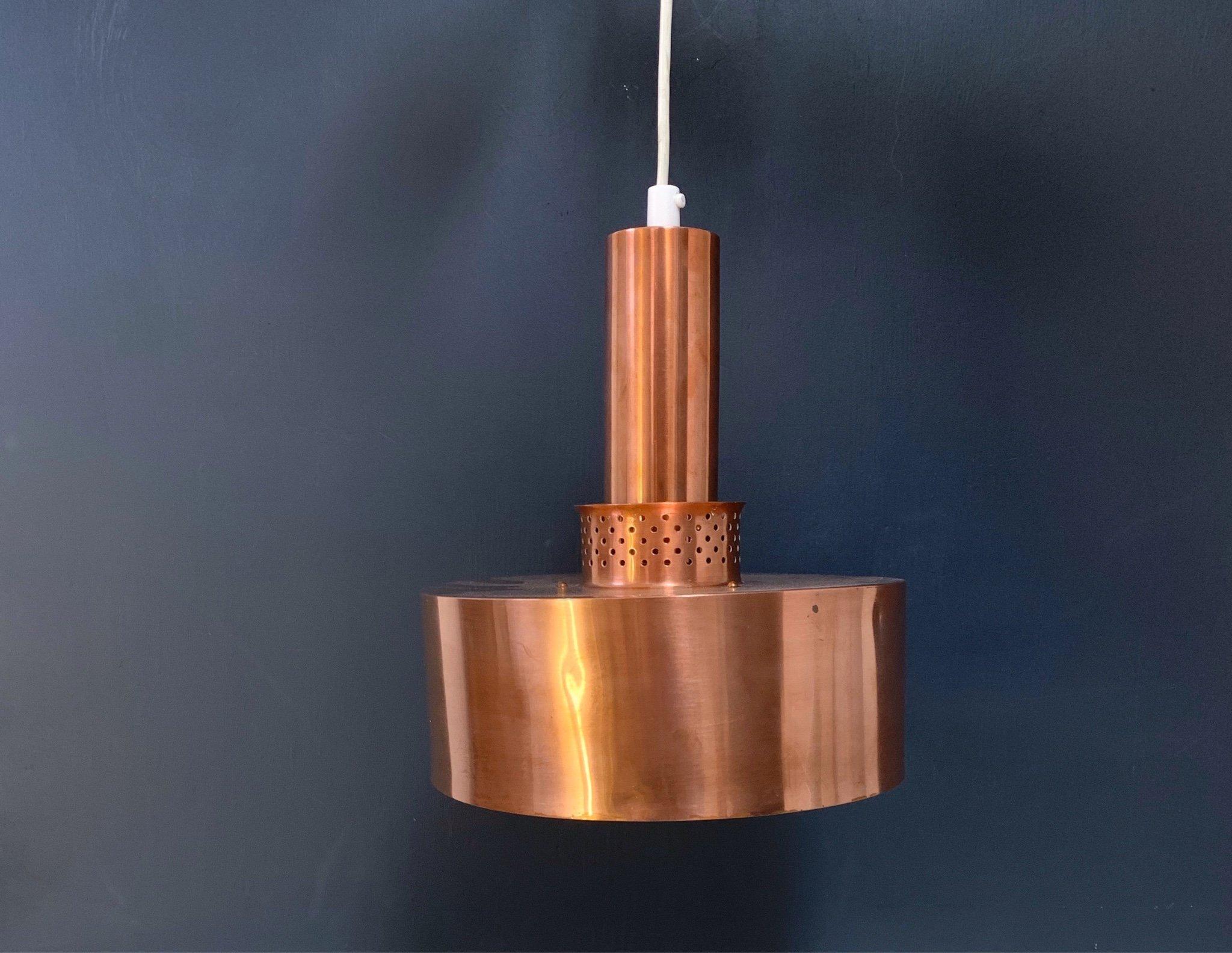 Hans Agne Jakobsson 1 st, taklampa Markaryd ( HAJ lampa koppar )