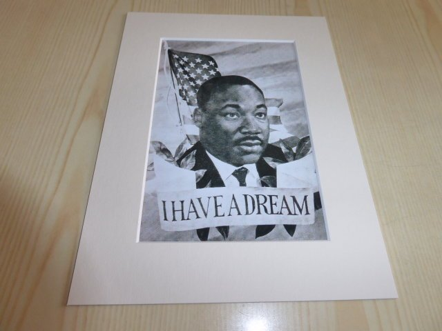 Martin Luther King Jr. fotografi med passepartout