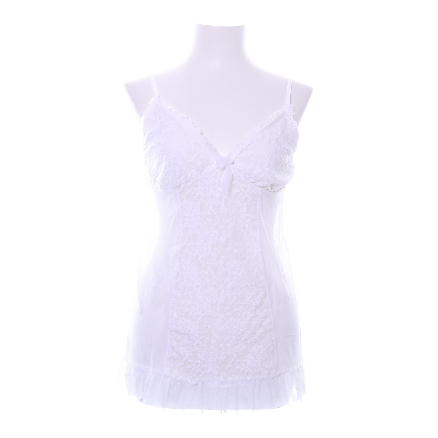 vit underklänning med spets