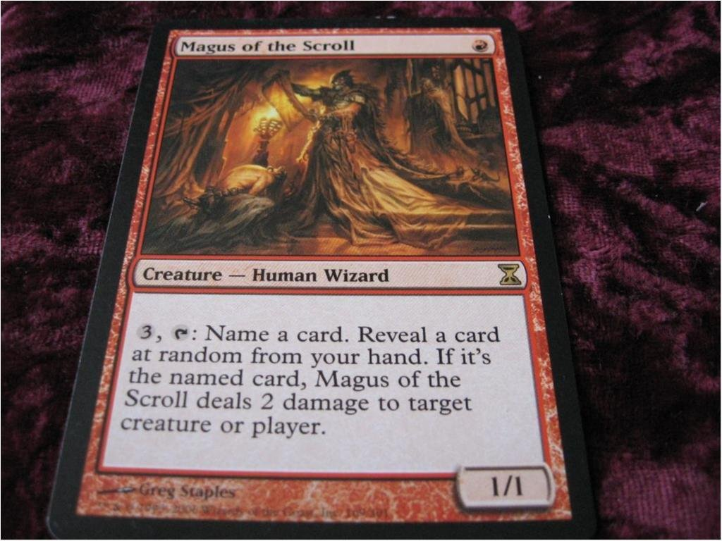 MAGUS OF THE SCROLL RARE (RÖD TIME SPIRAL) 1/1