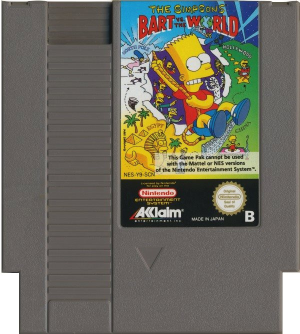 The Simpsons Bart vs. the World - NES - Kassett