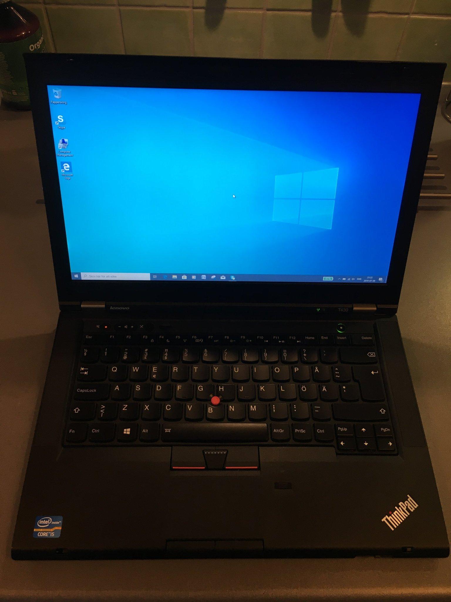 Topskick Lenovo T430 8GB/128GB SSD HDD Snabb di   (359513518