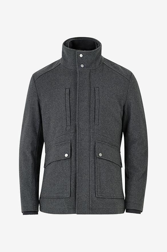 NY grå stilig jacka duffel från Esprit, ullmix