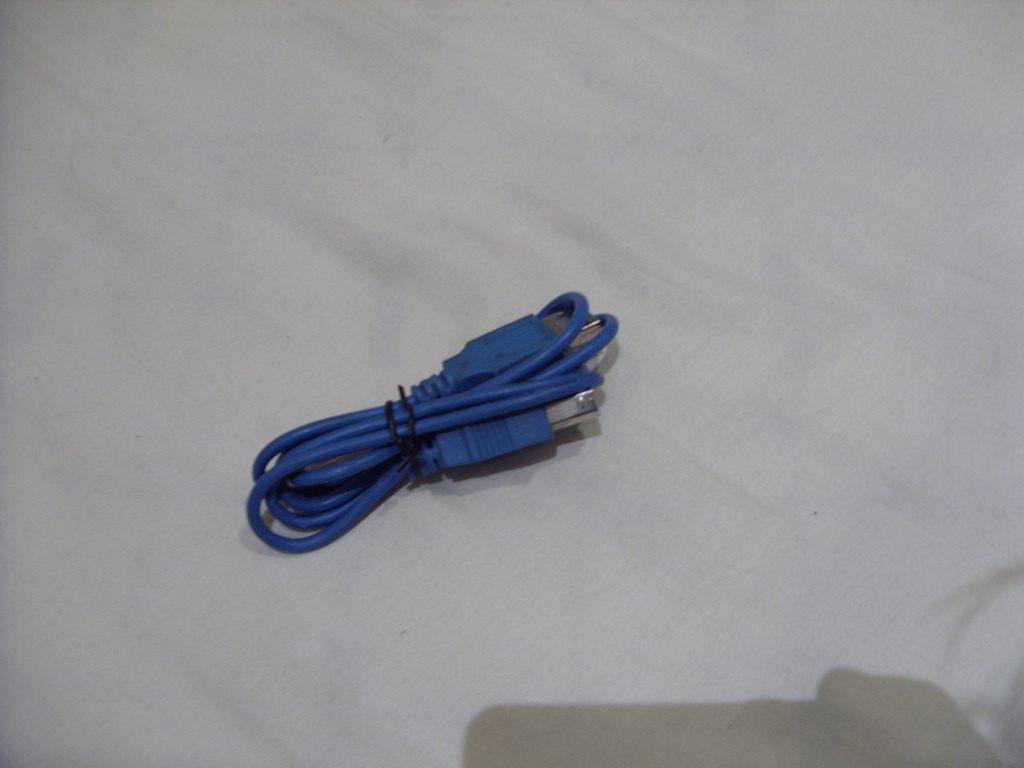 Blå 1 meter USB standard kabel för skrivare, scanner, hårddiskar på