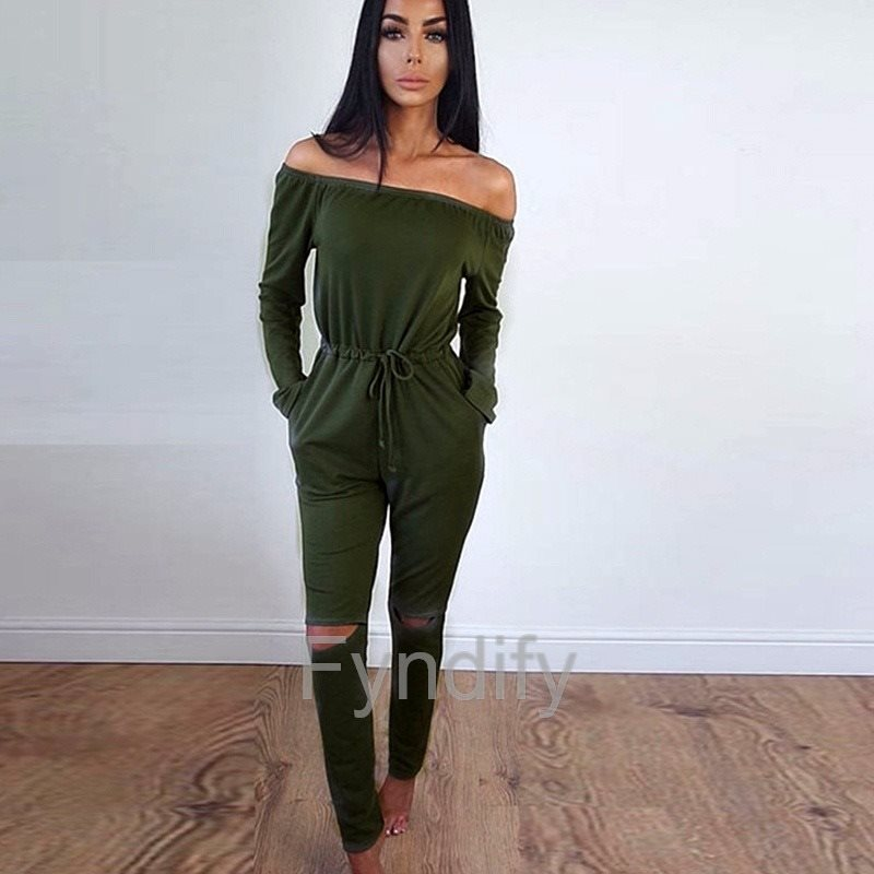 Jumpsuit Dam Dam Dam Hollow Out Grön XXL a27580