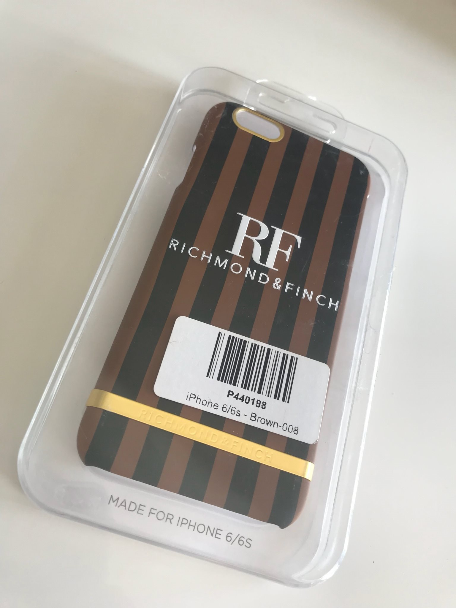 Satin case från Richmond & Finch - CHOCOLATE STRIPES, IPHONE 6/6S