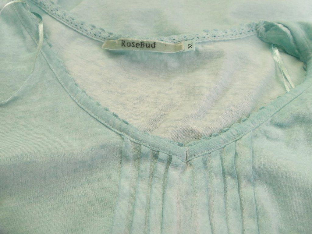 Rosebud Kortärmad tunika tunika tunika Storlek XL Blå 100% Bomull ac575b