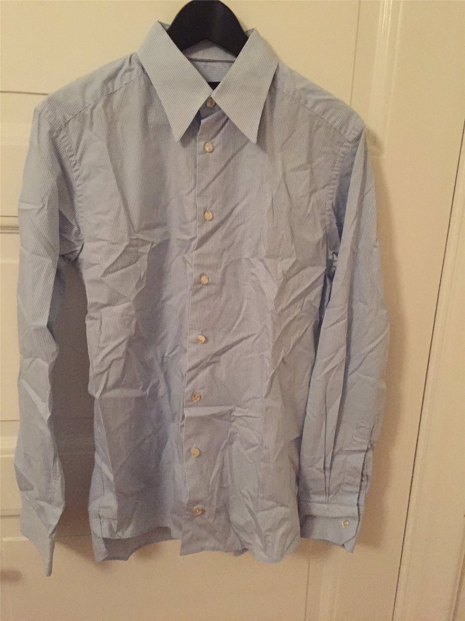 Blå vit rutig Eton skjorta Slim fit 40 (335258181) ᐈ Köp på Tradera cfd66848085b7