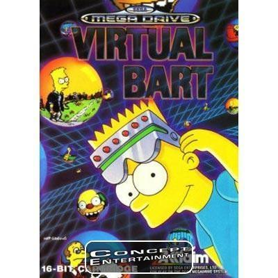 SIMPSONS THE - VIRTUAL BART (i box) till Sega Mega Drive