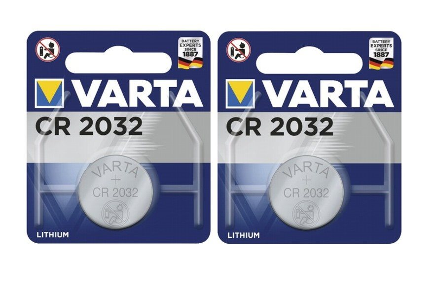 Batteri VARTA Germany - lithium battery - 2032 DL2032 CR2032 - 2 st. - quality !