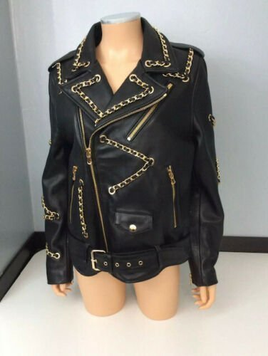 Moschino x H&M Black Leather Biker Jacket XS