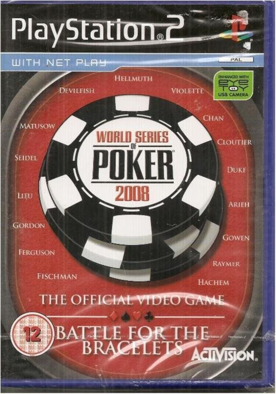 WORLD SERIES POKER 2008 (INPLASTAT PS2 SPEL)